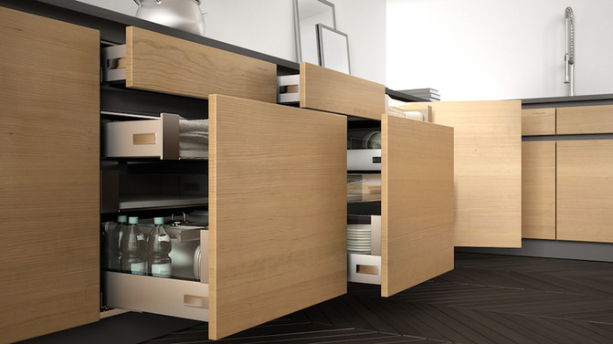 Kitchen drawer pullout