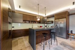 Well lit kitchen