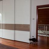 Glossy White 2 Tone Slidding Doors
