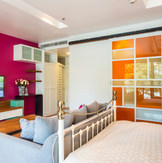Multi Sectional Colored Glass Door
