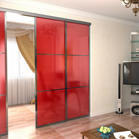 Colored Glass Sectional Doors