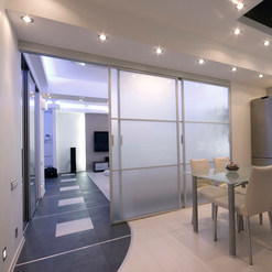 Fronsted Glass Sectional Doors