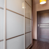 White Colored Glass Doors