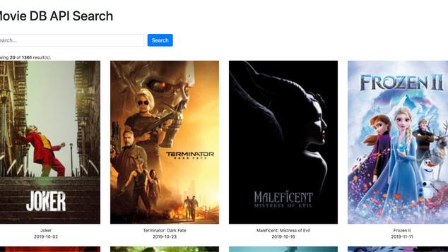 Movie DB API Search