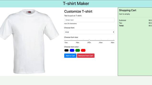 T-Shirt Customizer