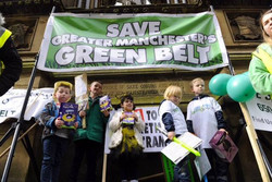 Kids at SGMGB's Rally in Mcr April 2017