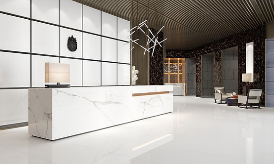 Space White Glazed Porcelain Wall & Floor 600x600mm