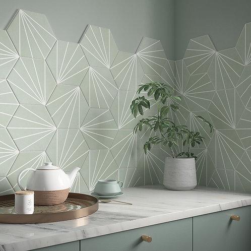 Lilypad Mint Matt Glazed Porcelain W&F 232x267cm