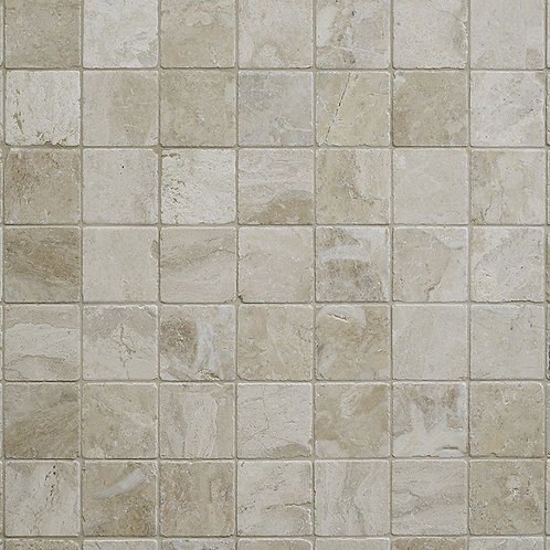 Vanilla Cream Tumbled Marble Wall & Floor 100x100mm