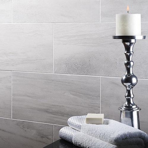 Tech Marble Grey Glazed Porcelain Wall & Floor 615x308mm
