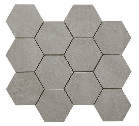 Rainstone Bone Hexagon Porcelain Mosaic 93x93mm