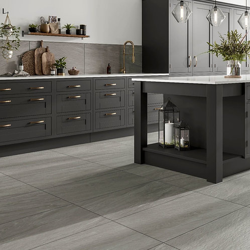 Valmalenco Grey Glazed Matt Porcelain Wall & Floor 450x900mm