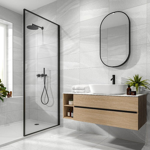 Anderley Light Grey Matt Glazed Porcelain Wall & Floor Tile 300x600mm