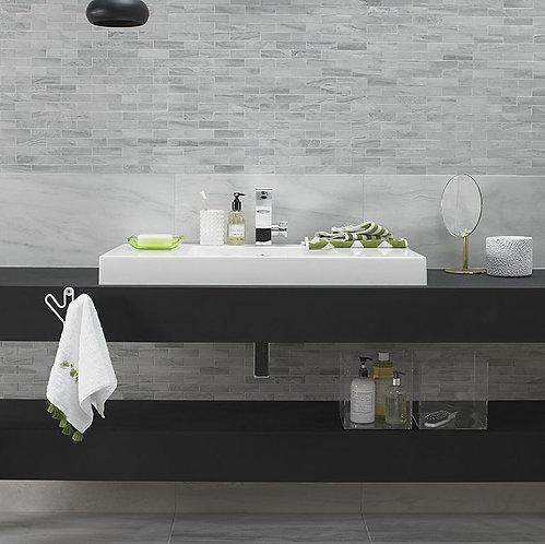 Tech Marble White Glazed Porcelain Wall & Floor 615x308mm