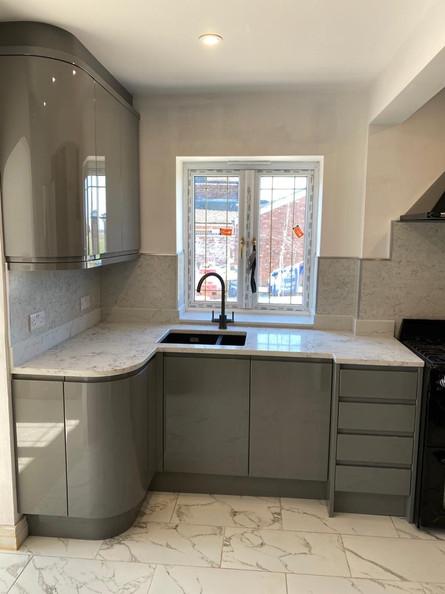 High Gloss Grey Kitchen