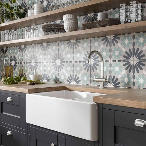 Gaudi Patterned Glazed Ceramic Wall & Floor Tile 250x250mm