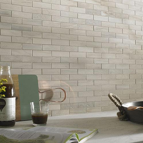 Tech Marble Beige Brick Porcelain Mosaic 97x27mm