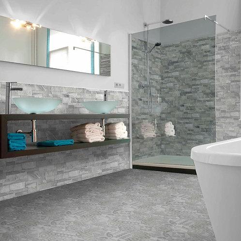 Marmi Grey Matt Glazed Porcelain Wall Splitface 160x394mm