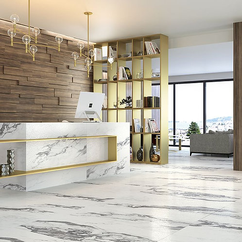 Friston Marble Eff. Glazed Porcelain Wall & Floor 442x890mm