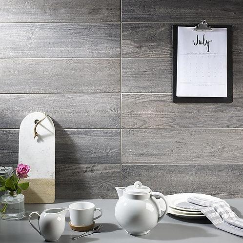 Dalby Grey Oak Glazed Porcelain Wall & Floor 600x150mm