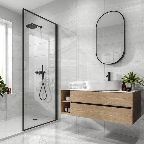 Anderley Light Grey Polished Glazed Porcelain Wall & Floor Tile 600x600mm