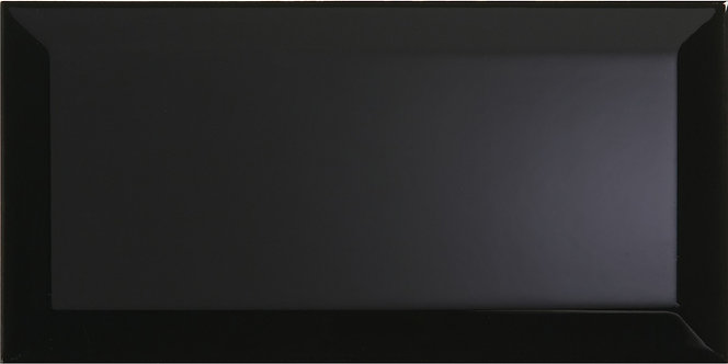 Metro Black Ceramic Wall 100x200mm