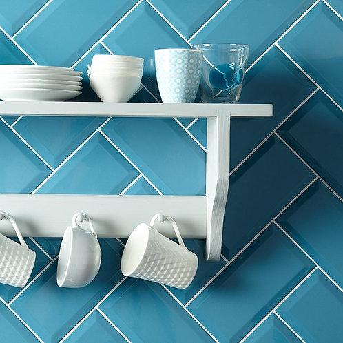 Metro Teal Ceramic Wall Tile 100x200mm