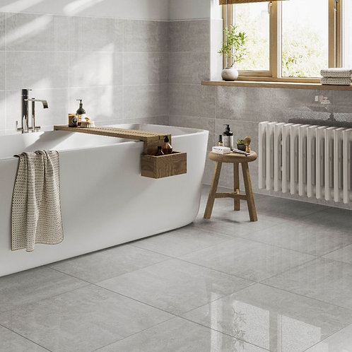 Fistral Clay Glazed Porcelain Wall & Floor Tile 600x600mm