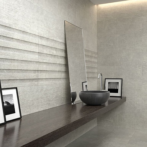 Brooklyn Grey Decor Ceramic Wall 300x900mm