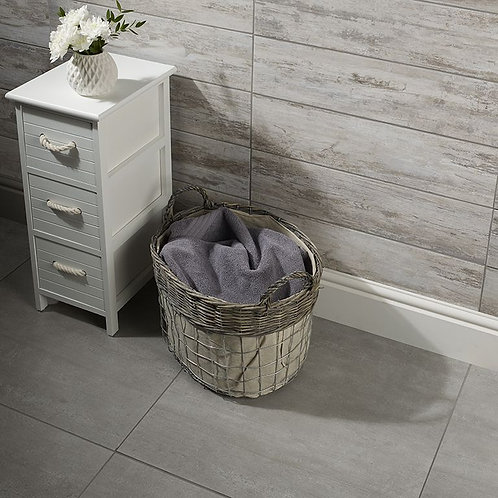 Rainstone Grey Glazed Porcelain Wall & Floor 600x600mm