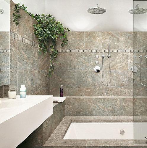 Dome Walnut Glazed Porcelain Wall & Floor 600x400mm