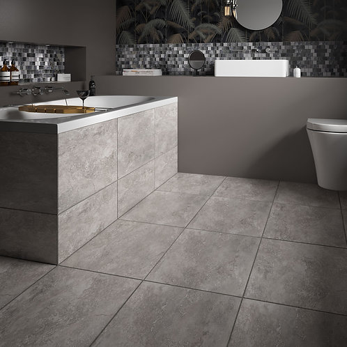 Valley Grey Glazed Porcelain Wall & Floor 580x400mm