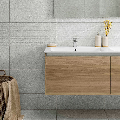 Hoxton Gris Linear Glazed Porcelain Wall & Floor 300x600mm