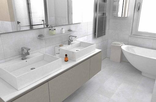 Loft White Glazed Porcelain Wall & Floor 304x610mm