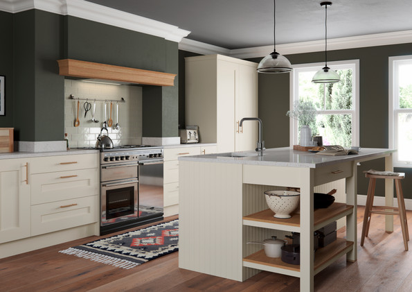 Rivington Cream oak shaker kitchen
