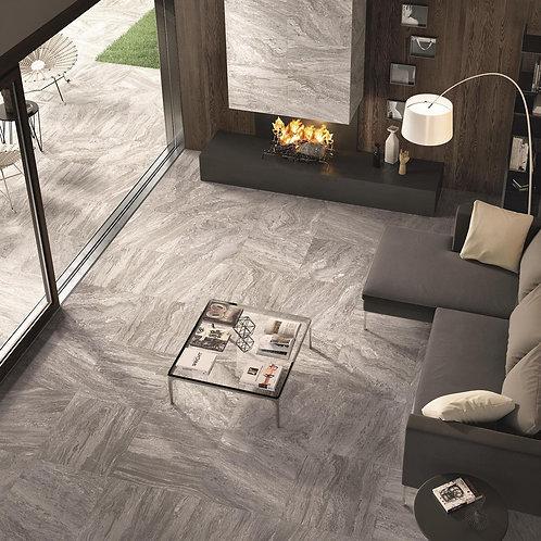 Valstein Dark Grey (Kohl) Grip Porcelain Wall & Floor 598x598mm