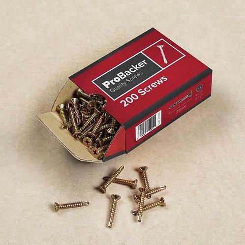 Pro Backer Screws 3.9 x 25mm - Box 200