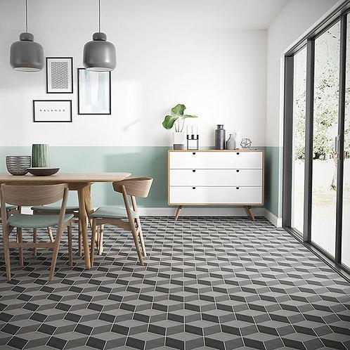 Nostalgic Concret Rombo Glazed Porcelain Wall & Floor 225x260mm
