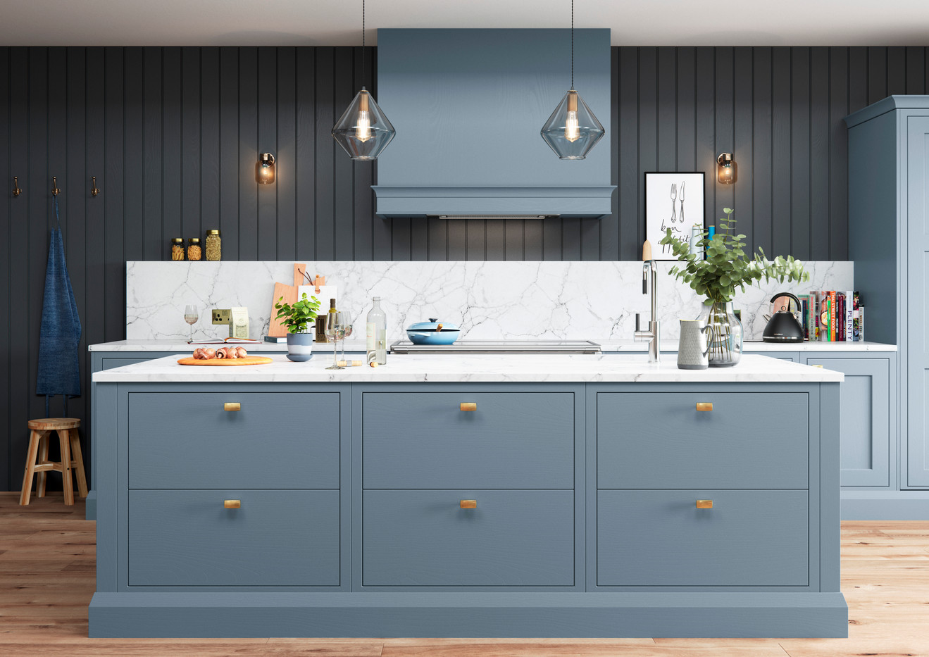 Baystone Stone Blue with PH12 handles Ca