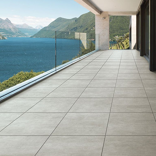 Rainstone Bone Glazed Porcelain Wall & Floor 600x600mm