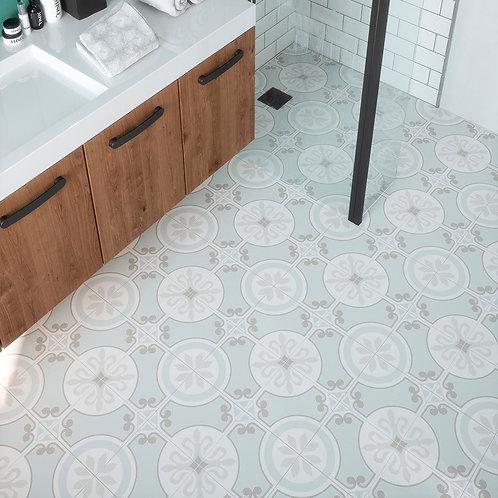 Ribera Aqua Pre-Scored Matt Glazed Ceramic W&F Tile 450x450mm