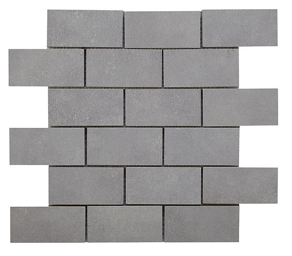 Cemento Light Grey Brick Mosaic 96x47mm