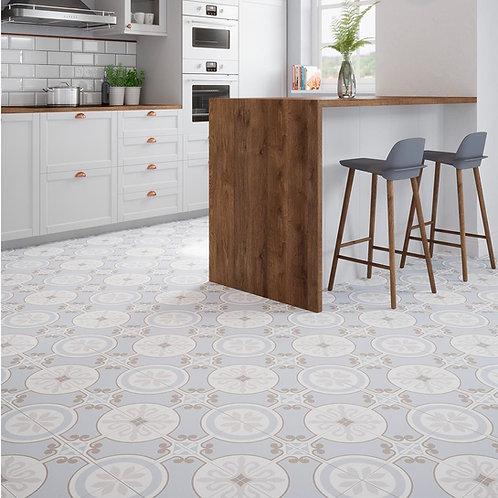 Ribera Blue Pre-Scored Matt Glazed Ceramic W&F Tile 450x450mm