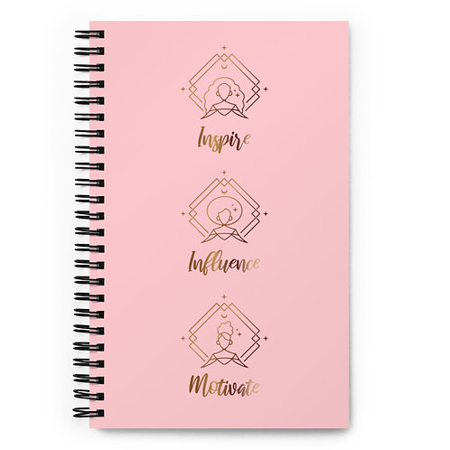 Pink & Bronze Spiral notebook