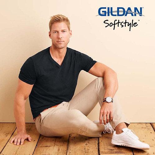 GILDAN 64V00 SOFTSTYLE  V 領 T 恤 (美國尺碼)