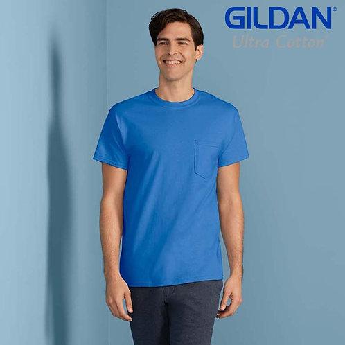 GILDAN 2300 ULTRA COTTON 成人有袋 T 恤 (美國尺碼)