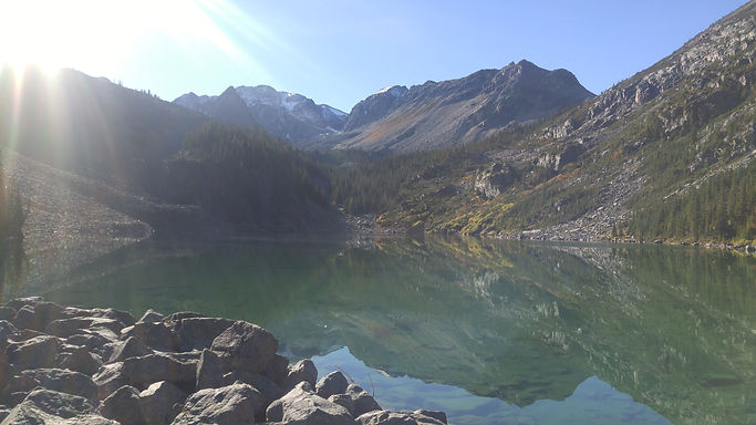 Hiking to alpine lakes in Golden BC