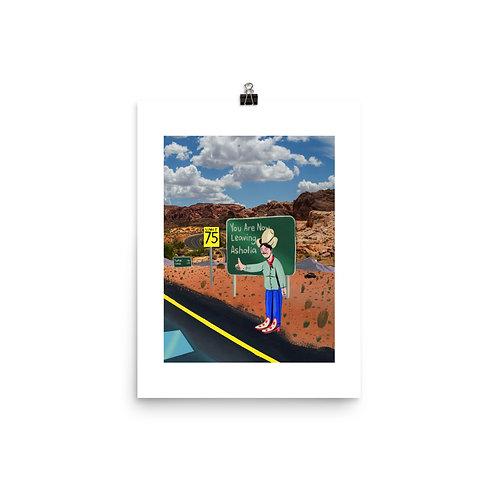 Hitch-Hiker Book Art Print
