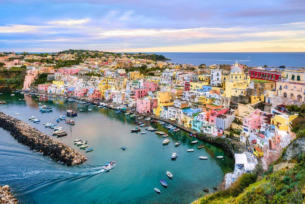 Procida island, Naples, Italy, colorful