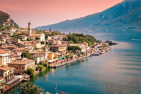 Panorama of Limone sul Garda, a small to